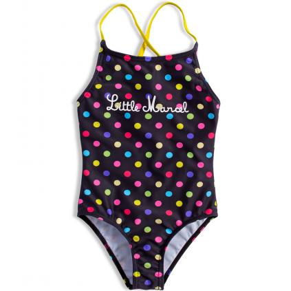 Dievčenské plavky vcelku LITTLE MARCEL farebné bodky