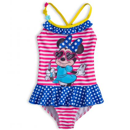 Dievčenské plavky DISNEY MINNIE HOLIDAY ružový prúžok