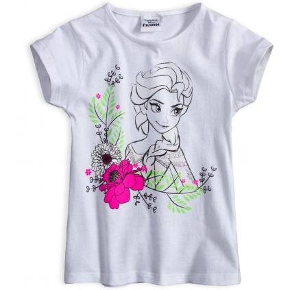 Dievčenské tričko DISNEY FROZEN ELSA ROSE biele