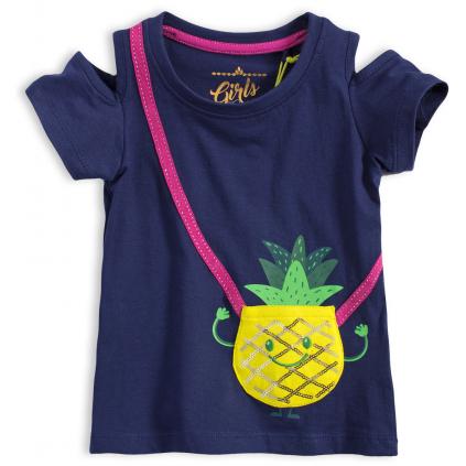 Dievčenské tričko LEMON BERET ANANÁS modré