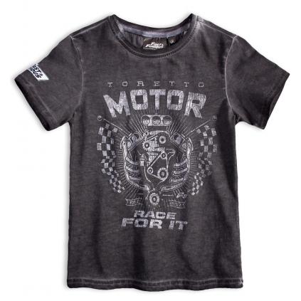 Chlapčenské tričko FAST&FURIOUS MOTOR šedé