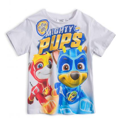 Chlapčenské tričko PAW PATROL MIGHTY PUPS biele