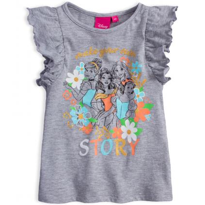 Dievčenské tričko DISNEY STORY šedé