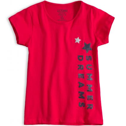 Dievčenské tričko LOSAN SUMMER DREAMS červené