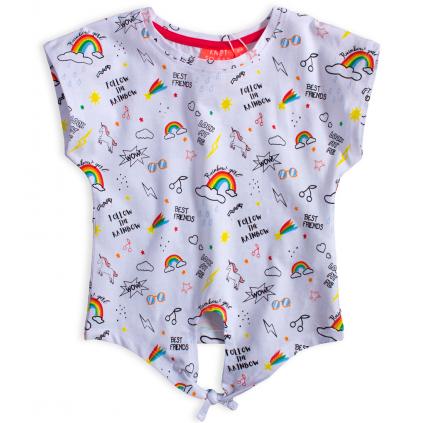 Dievčenské tričko KNOT SO BAD RAINBOW biele