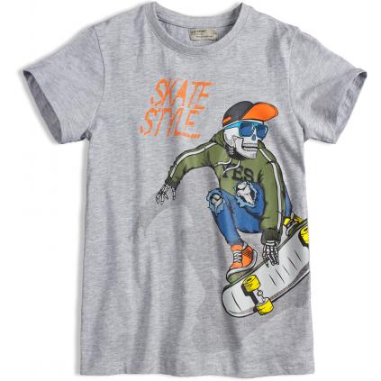 Chlapčenské tričko GLO-STORY SKATE šedé