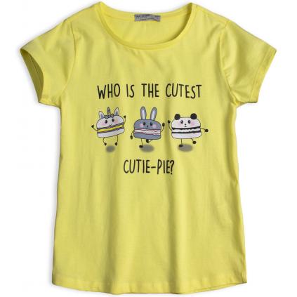 Dievčenské tričko GLO-STORY CUTIE PIE žlté