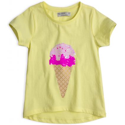 Dievčenské tričko GLO-STORY ZMRZLINA žlté