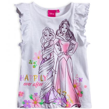 Dievčenské tričko DISNEY  HAPPILY biele