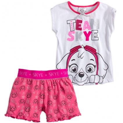 Dievčenské pyžamo PAW PATROL TEAM SKYE biele