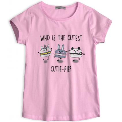 Dievčenské tričko GLO-STORY CUTIE PIE ružové