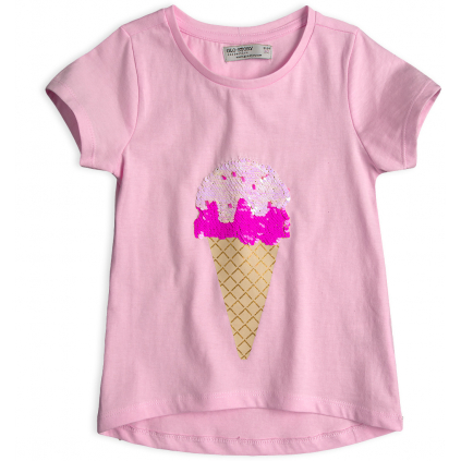 Dievčenské tričko GLO-STORY ZMRZLINA ružové