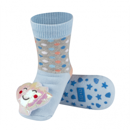 Detské ponožky s hrkálkou LASTÚRA modré