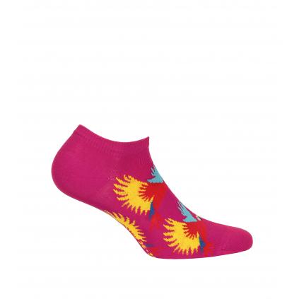 Dievčenské členkové ponožky WOLA PAPAGÁJE ružové
