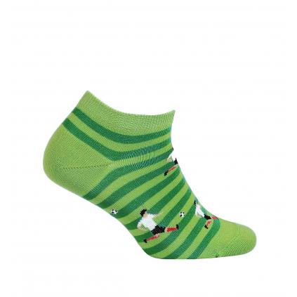 Chlapčenské členkové ponožky WOLA FUTBAL zelené