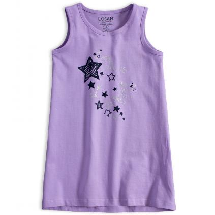 Dievčenské letné šaty LOSAN SPARKLE fialové