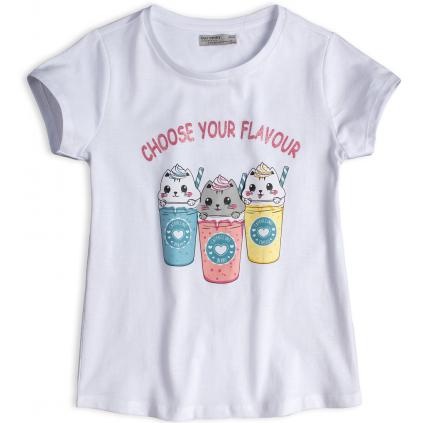 Dievčenské tričko GLO STORY CHOOSE YOUR FLAVOUR biele
