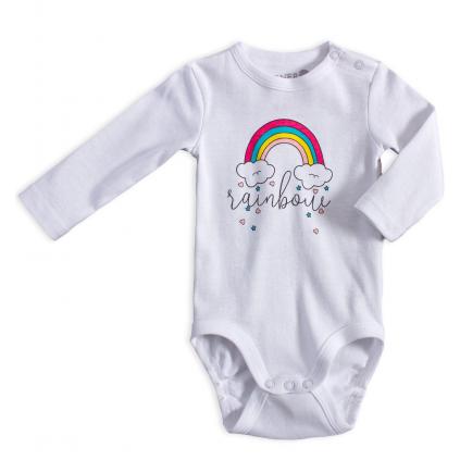 Dojčenské body VENERE DÚHA biele
