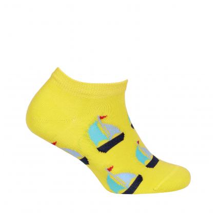 Detské členkové ponožky WOLA LOĎKY žlté