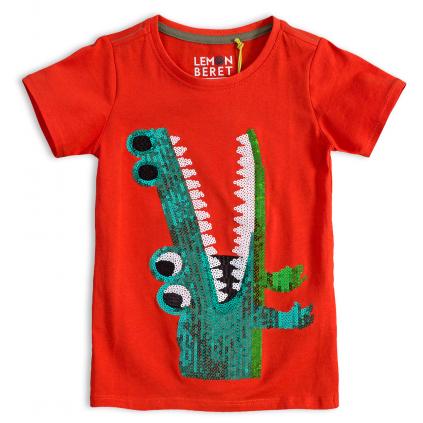 Chlapčenské tričko LEMON BERET KROKODÍL oranžové