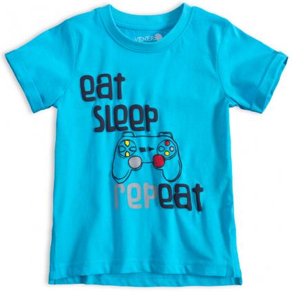 Chlapčenské tričko VENERE EAT and SLEEP modré