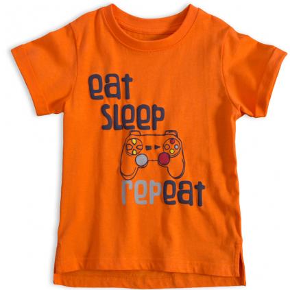 Chlapčenské tričko VENERE EAT and SLEEP oranžové