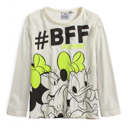 Dievčenské tričko DISNEY MINNIE BFF FOREVER biele