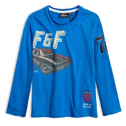 Chlapčenské tričko FAST&FURIOUS DODGE stredne modré