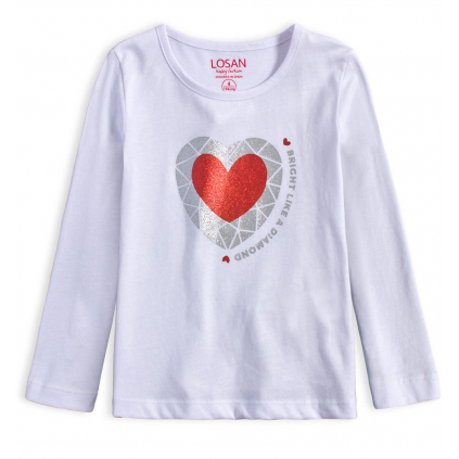Dievčenské tričko LOSAN DIAMOND biele