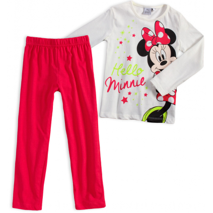 Dievčenské pyžamo DISNEY MINNIE HELLO biele