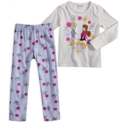 Dievčenské pyžamo DISNEY FROZEN DESTINY biele