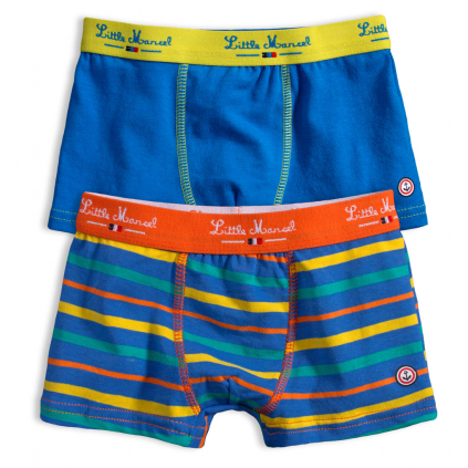 Chlapčenské boxerky LITTLE MARCEL PRÚŽKY modré