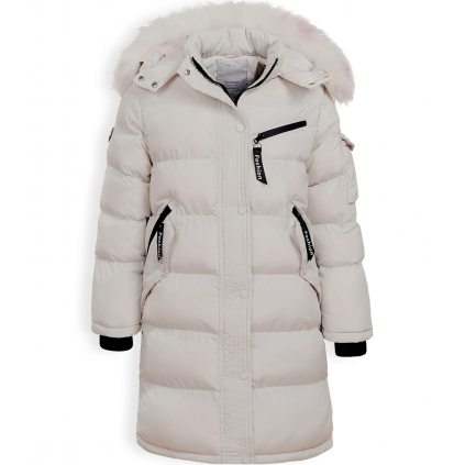 Dievčenský zimný kabát GLO STORY FASHION krémový