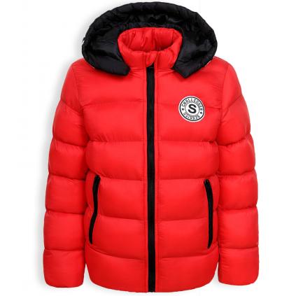 Chlapčenská zimná bunda GLO STORY CHALLANGER červená