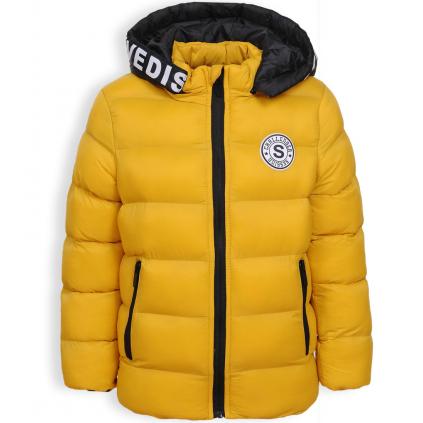 Chlapčenská zimná bunda GLO STORY CHALLANGER žltá