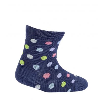 Dojčenské ponožky so vzorom WOLA BODKY tmavo modré