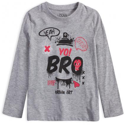 Chlapčenské tričko LOSAN URBAN ART šedé