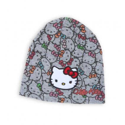 Dievčenská čiapka HELLO KITTY šedá