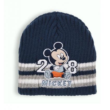 Chlapčenská pletená čiapka DISNEY MICKEY MOUSE BABY modrá