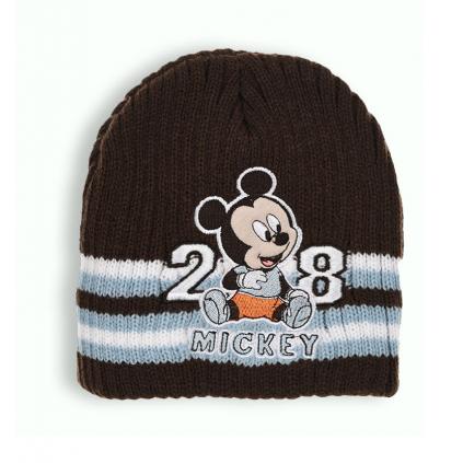 Chlapčenská pletená čiapka DISNEY MICKEY MOUSE BABY hnedá