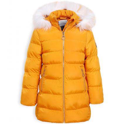 Dievčenský zimný kabát GLO STORY RING žltý