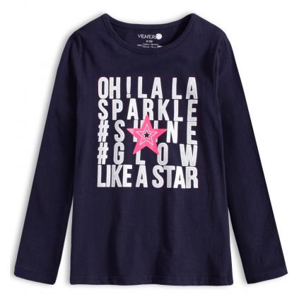 Dievčenské tričko VENERE GLOW modré