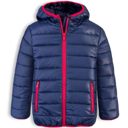Chlapčenská prešívaná bunda LOSAN BOY STYLE tmavo modrá