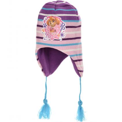 Dievčenská pletená čiapka PAW PATROL SKYE fialová