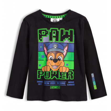 Chlapčenské tričko PAW PATROL CHASE čierne