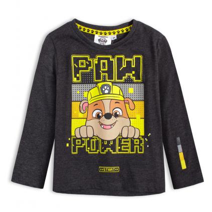 Chlapčenské tričko PAW PATROL RUBBLE šedé
