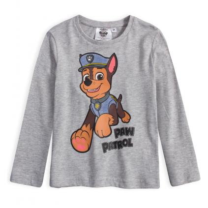 Chlapčenské tričko PAW PATROL CHASE šedé