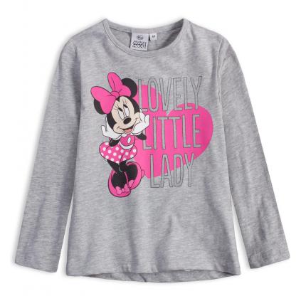 Dievčenské tričko DISNEY MINNIE LOVELY šedé