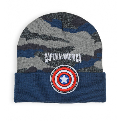 Chlapčenská čiapka AVENGERS CAPTAIN AMERICA modrá