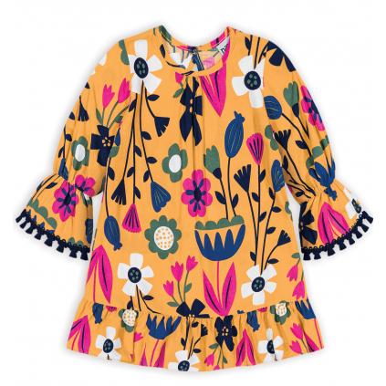 Dievčenské šaty NANAI KVETY žlté